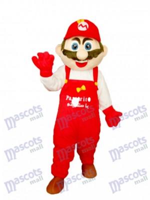 Mario mit weißen Kleidern Maskottchen Erwachsene Kostüm Karikatur Anime