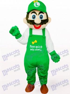 Kapitän Mario in weißer und roter Kleidung Anime Maskottchen Kostüm für Erwachsene