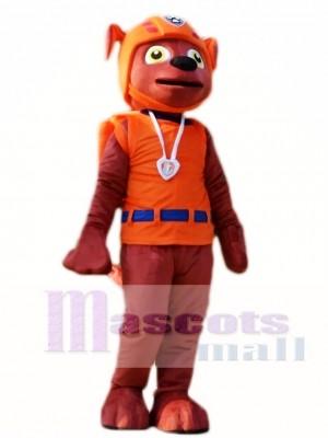 Paw Patrol Zuma Maskottchen Kostüm Schokolade Labrador Pup Hund