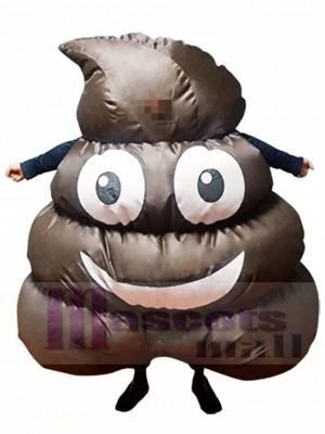Emoji Poop Pile Smile Schwarze Scheiße Aufblasbar Halloween Sprengen Sie Kostüme für Erwachsene