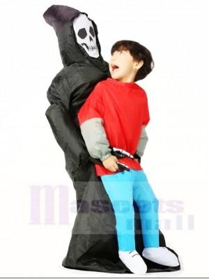 Schädelgeist tragen mich auf Dämon aufblasbare Halloween Kostüme für Kinder