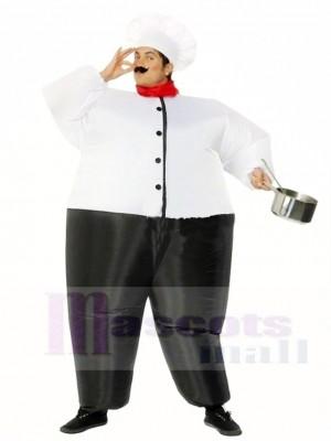 Großer Chefkoch Aufblasbare Kostüme Restaurant Promotion Anzüge für Erwachsene