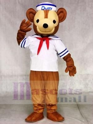 Duffy das weiße Hemd Seemann Bär Maskottchen Kostüme Tier