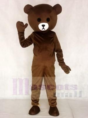 Braun Bär Maskottchen Kostüme Line Town Freunde Tier