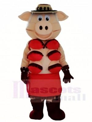 Marionetten Striptease Streifen Schwein Schweinisch Maskottchen Kostüme Tier