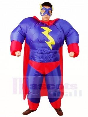 Fett Übermensch Lila Superheld Aufblasbare Halloween Weihnachten Kostüme für Erwachsene