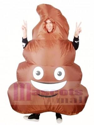Emoji Poop Pile Lächelndes Gesicht Scheisse Aufblasbares Halloween Weihnachten Kostüme für Erwachsene
