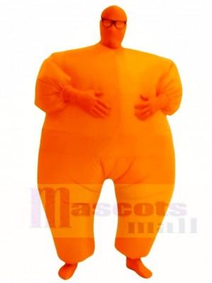 Orange Ganzkörper Passen Aufblasbar Halloween Weihnachten Kostüme für Erwachsene