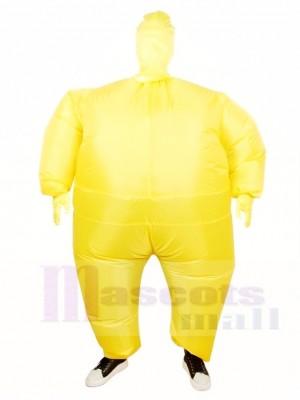 Gelb Ganzkörper Passen Aufblasbar Halloween Weihnachten Kostüme für Erwachsene