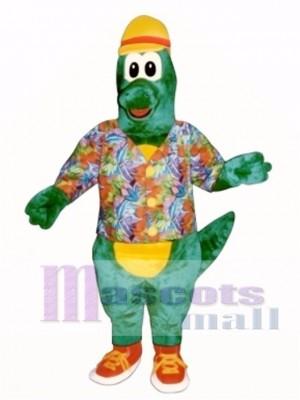 Al Gator mit Hut, Shirt & Tennisschuhe Maskottchen Kostüm