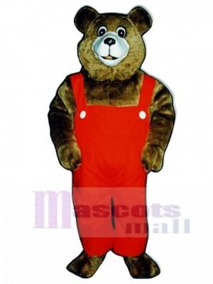 Neu Tommy Teddybär mit Overalls Maskottchen Kostüm