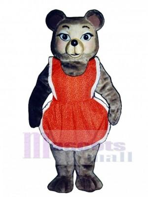 New Thelma Bear with Dress Mascot Costume
