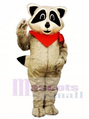 Waschbär mit Halstuch Maskottchen Kostüm  Tier