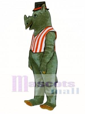 R.I. Nocerous Rhino mit Weste & Hut Maskottchen Kostüm