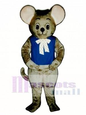 Maxi Maus mit Weste und Hut Maskottchen Kostüm