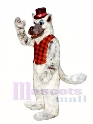 Schlechter Wolf mit Hut & Weste Maskottchen Kostüm Tier