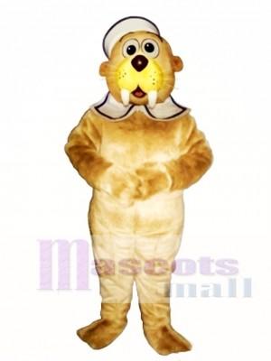 Niedliches Baby Walross mit Hut & Kragen Maskottchen Kostüm