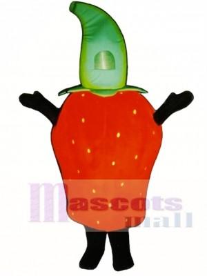 Erdbeere Maskottchen Kostüm Obst