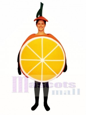 Geschnittene Orange Maskottchen Kostüm Obst