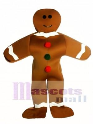 Lebkuchen Mann Maskottchen Kostüm Weihnachten Xmas
