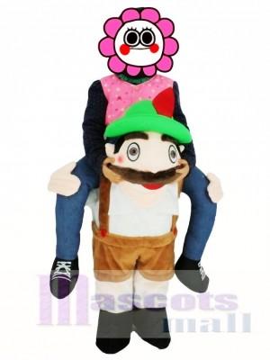 Für Kinder PiggyBack bayerischer Oktoberfest Bier Kerl tragen mich auf Hirsch Maskottchen Kostüme