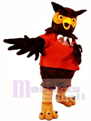 rot Hemd Braun Eule Maskottchen Kostüme Tier