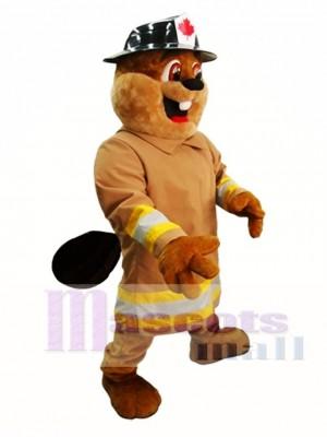 Biber in Hut Maskottchen Kostüm Burny Biber Maskottchen Kostüme
