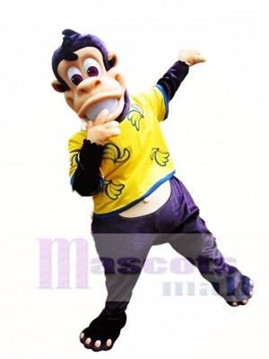Lila Affen Maskottchen Kostüm Eddie die Affen Maskottchen Kostüme