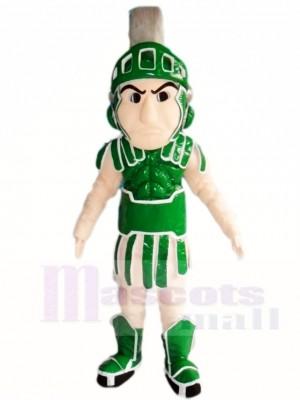 Grüner Spartaner Ritter Maskottchen Kostüme Menschen