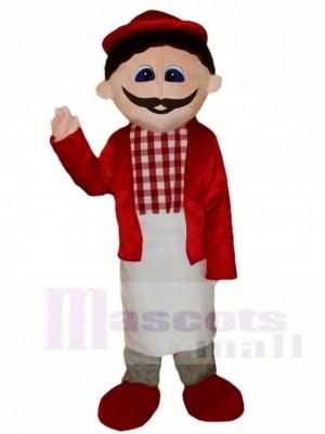Rote Hemd Mann Maskottchen Kostüme Leute