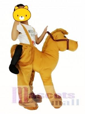 Kinder Huckepack tragen mich auf Pferd Maskottchen Kostüme