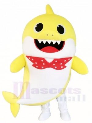 PinkFong Gelb Baby Hai Maskottchen Kostüme Seeozean Karikatur