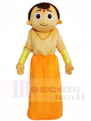 Indischer Mann Maskottchen Kostüme Menschen