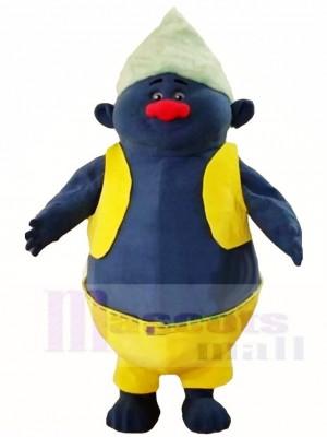 Gelbes Shirt Groß und fett Biggie Trolls Maskottchen Kostüme Cartoon