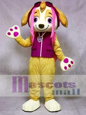 Paw Patrol Skye Maskottchen Kostüm Cartoon Rosa Hund Charakter