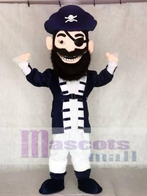 Redbeard Pirat in Marineblau Maskottchen Kostüme