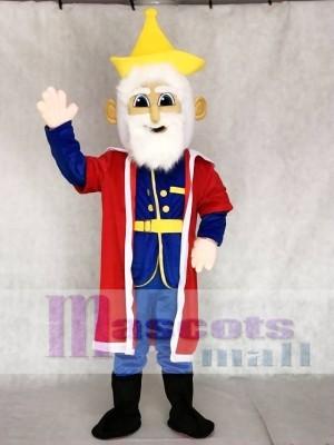 Alter König mit rotem Umhang Maskottchen Kostüme