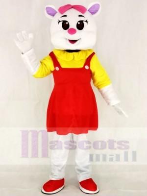 Rote Frau Katze Maskottchen Kostüme Tier