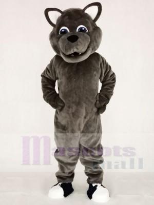 Grauer Sport Leistung Wolf Maskottchen Kostüme Tier