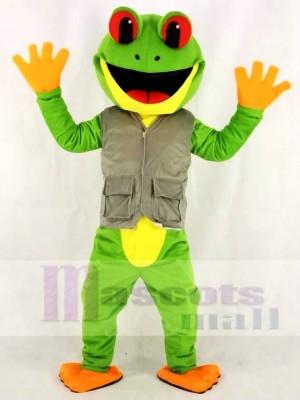 Grüner Baum Frosch in Weste Maskottchen Kostüme