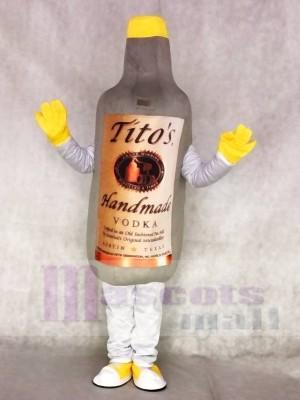 Grau Wodka Wein Flasche Maskottchen Kostüme trinken