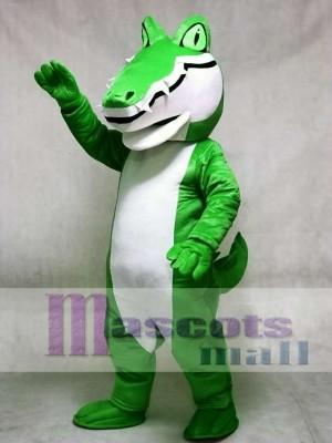 Erwachsenes grünes Alligatorkrokodil Gator Maskottchen Kostüm