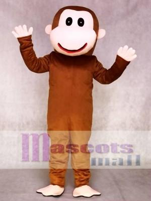 Glücklicher Affe Maskottchen Adult Kostüm Tier