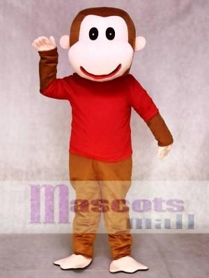 Glücklicher Affe im Rot Maskottchen Kostüm Tier