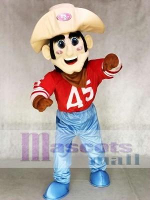 Sauerteig Sam 49ers Maskottchen Kostüm