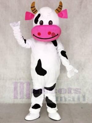Rosa Ohr Kuh Maskottchen Kostüme Tier