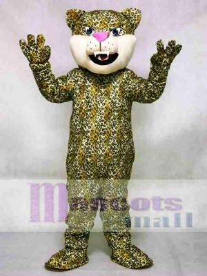 Pink Nase Leopard / Gepard / Jaguar Maskottchen Kostüm