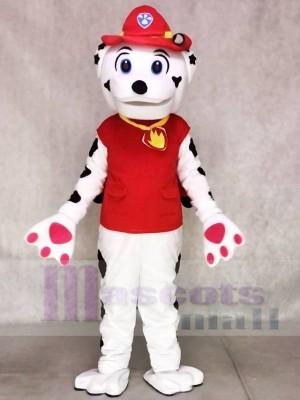 Paw Patrol Marshall Hund Maskottchen Kostüm mit roter Kleidung Tier