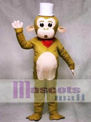 Weißes Kappen Affe Maskottchen Kostüm Tier