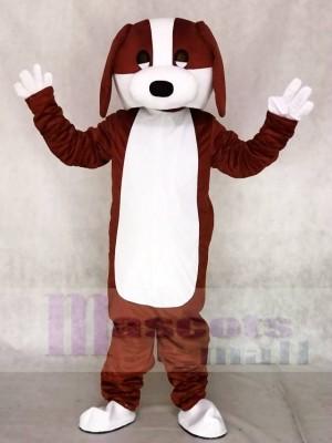 Brauner und weißer Hund Tier Maskottchen Kostüme